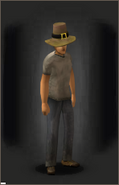 Prosperous Pilgrim's Hat equipped male
