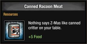 Tlsdz canned racoon meat