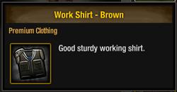 Work Shirt - Brown