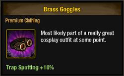 Tlsdz brass goggles
