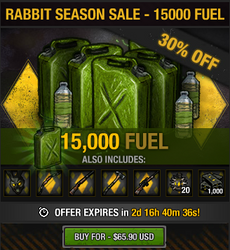 Rabbit Season Sale - 15000 fuel