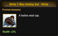 White Z-Mas Holiday Hat - White