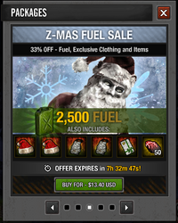 Tlsdz Z-Mas Fuel Sale 2500