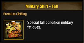 Military Shirt - Fall