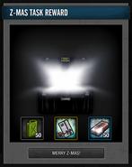 Z-Mas Hunt Reward Box opened