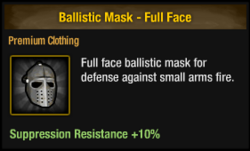Ballistic mask - full face