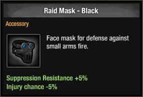 Raid Mask - Black
