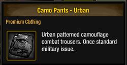 Camo Pants - Urban