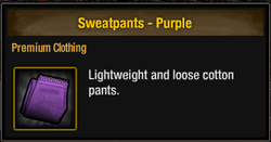 Sweatpants - Purple