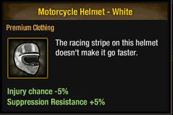 Tlsdz motorcycle helmet - white