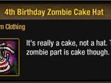 4th Birthday Zombie Cake Hat