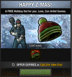 Tlsdz free holiday hat