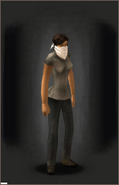 Whiteout Mask equipped female