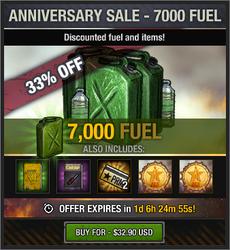 7th Anniversary Sale - 7000 Fuel