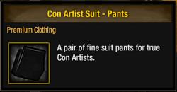 Con Artist Suit - Pants