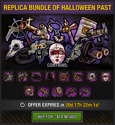 Tlsdz replica bundle of halloween past package 2015