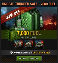 Undead Thunder Sale - 7000 Fuel