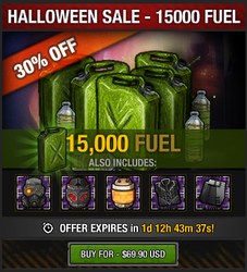 Halloween 2016 Fuel Sale - 15000