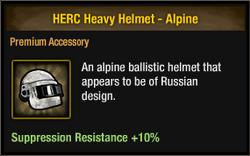Herc alpine helmet