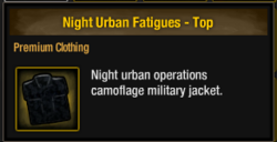 Urban Night Camo Info Box