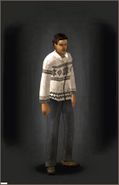 White Z-Mas Cardigan - White equipped male