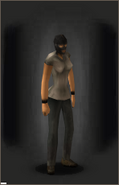 Ski-mask - Black equipped female