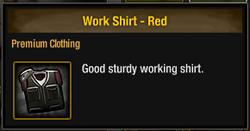 Work Shirt - Red