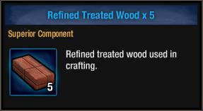 Refined Treated Wood