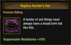 Tlsdz replica hunter's hat