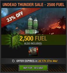 Undead Thunder Sale - 2500 Fuel