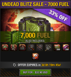 Undead Blitz Sale - 7000 Fuel