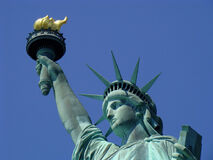 Closeup statue of liberty