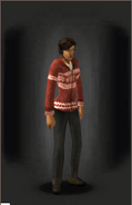 Christmas Cardigan - Red - equipped female