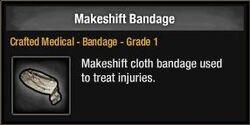 Makeshift Bandage