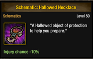 Tlsdz schematic hallowed necklace