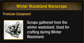 Winter Wasteland Warscraps