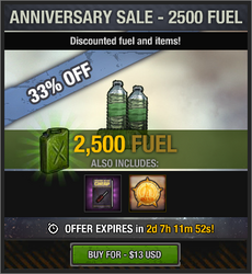 Anniversary Sale - 2500 Fuel - 2018
