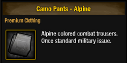 Camo pants alpine