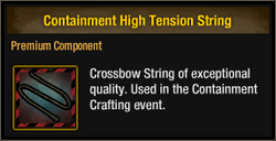 Containment High Tension String