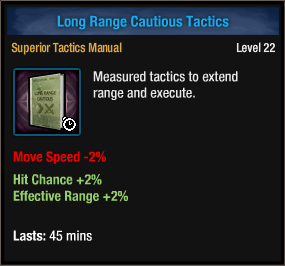 Long range cautious tactics