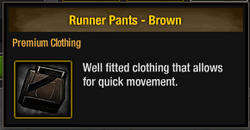 Runner Pants - Brown