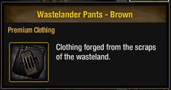 Wastelander Pants - Brown