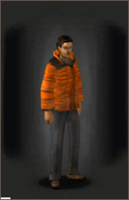 Winter Coat - Orange equipped male