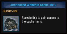 Abandoned Whiteout Cache Mk 2