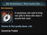 5th Anniversary Lucky Coins