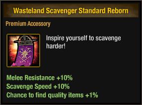 Wasteland Scavenger Standard Reborn