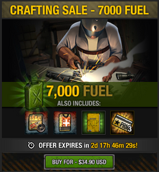 Tlsdz crafting sale - 7000 fuel