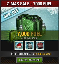 Z-Mas Sale 2016 - 7K fuel