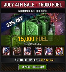 July 4th Sale - 15000 Fuel