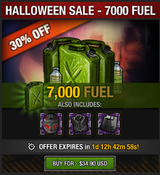 Halloween 2016 Fuel Sale - 7000
